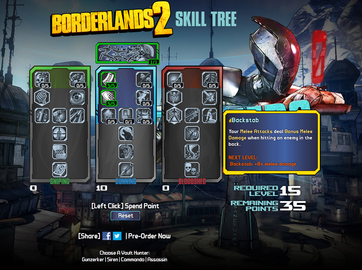 build-borderlands-2-arbre-de-talents-zero - Game-Up fr